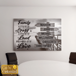 Personalized 6 Names Family A Little Bit Of Crazy Canvases Pictures Puzzles Posters Quilts Blankets