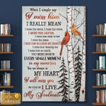 Personalized I Will Miss You As Long As I Live (Memory Memorial Loss Of Family Members For Ones In Heaven, Canvases, Posters, Pictures, Puzzles, Quilts, Blankets, Shower Curtains)