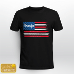 Grandpa And Grandkids American Flag Father's Day Gifts Vinyl Stickers Shirts Hoodies Cups Mugs Totes Handbags