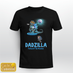 1 Kid Dadzilla Father Of Monsters Father's Day  Gifts Shirts Hoodies Cups Mugs Totes Handbags