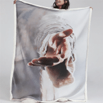 Reaching Hand Jesus (Christ - Christians, Quilts, Blankets, Shower Curtains, Canvases, Posters, Pictures, Puzzles)