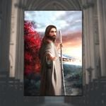 Jesus Follow Me (God - Christ - Christians, Canvases, Posters, Pictures, Blankets, Shower Curtains, Flags, T-shirts, Hoodies, Sweatshirts, Tank Tops)