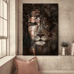 Jesus And Lion (Canvas, Posters, Puzzles, Blankets, Christs, Christians)
