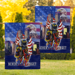 We Will Never Forget Firefighters (America Twin Towers - Canvases, Posters, Pictures, Puzzles, Quilts, Blankets, Shower Curtains, Flags)