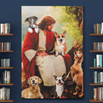 Jesus And Dogs (Canvases, Posters, Pictures, Puzzles, Quilts, Blankets, Shower Curtains, Flags, Bath Mats)