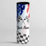 He Races I Drnk (Couples Racers - Racing Tumblers, Cups, Tracker Bottles)