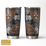 Personalized Faith Love Fear Jesus (Christs - Christians, Tumblers, Cups, Bottles)