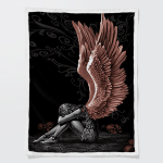 Sitting Angel Jesus (Christs - Christians, Quilts, Blankets, Canvases, Posters, Pictures, Puzzles, Shower Curtains, Led Lamp, Stickers)