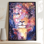 Jesus Lamb (God - Christ - Christians, Canvases, Posters, Puzzles, Blankets, Quilts, Phone Cases, Shirts, Hoodies, Cups)