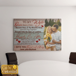 Personalized Image To My Wife Canvas (Canvases, Pictures, Puzzles, Posters, Quilts, Blankets, Led Lamp, Stickers)