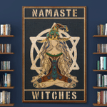 Namaste Wtches Halloween (Canvases, Posters, Pictures, Puzzles, Quilts, Blankets, Shower Curtains, Led Lamp, Stickers)