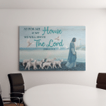 Jesus We Will Serve The Lord (Christs - Christians, Canvases, Pictures, Puzzles, Posters, Quilts, Blankets, Flags, Bath Mats, Led Lamp, Stickers)