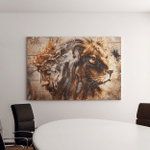 Jesus And Lion (Christs - Christians, Canvases, Pictures, Puzzles, Posters, Quilts, Blankets, Flags, Bath Mats, Led Lamp, Stickers)