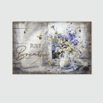 Just Breath Humming Bird (Jesus - Christs - Christians, Canvases, Pictures, Puzzles, Posters, Quilts, Blankets, Led Lamp, Stickers)