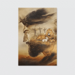 Jesus Lion (Christ - Christians, Canvases, Posters, Pictures, Puzzles, Quilts, Blankets, Shower Curtains, Led Lamp, Stickers)