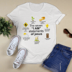 The Seven I Am Statement Of Jesus (Christs - Christians, Vinyl Stickers, Shirts, Hoodies, Cups, Mugs, Totes, Handbags)