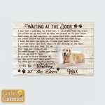 Personalized Waiting At The Door Dogs In Heaven (Canvases, Pictures, Puzzles, Posters, Bath Mats, Stickers)