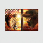 Jesus Lion God Is With Me (Christ - Christians Canvases, Posters, Pictures, Puzzles, Shower Curtains, Stickers)