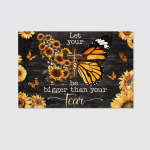 Faith Bigger Than Fear Butterfly (Jesus Christs Christians, Canvases, Posters, Pictures, Puzzles, Blankets, Shower Curtains, Led Lamp, Stickers)