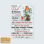 For My Dad In Heaven (Memory Memorial Loss Of Dad Canvases, Pictures, Blankets, Shower Curtains, Led Lamp, Stickers)