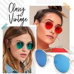 Metal Classic Vintage Women Sunglasses
