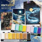 Metallic Watercolor Kit Set