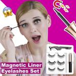 2020 Glamorous Magnetic Eyelashes and Eyeliner Set - 3 Pairs/ Set!