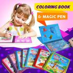 Montessori Coloring Book & Magic Pen