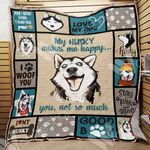 Siberian Husky Dog Blanket OCT1502 70O56