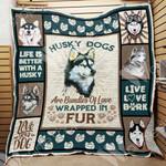 Siberian Husky Dog Blanket OCT1502 70O31