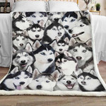 Siberian Husky Dog Sherpa Blanket JR2201 78O58