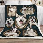 Siberian Husky Dog Sherpa Blanket JR2001 68O39