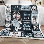 Siberian Husky Dog Sherpa Blanket OCT3101 90O35
