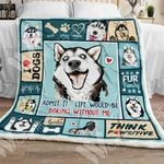 Siberian Husky Dog Sherpa Blanket OCT3003 90O47
