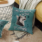 SIberian Husky Dog Cushion Cover OCT1603 70O51