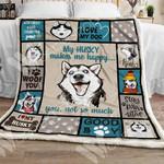 Siberian Husky Dog Sherpa Blanket OCT1502 70O56