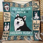 Siberian Husky Dog Blanket OCT2303 76O49