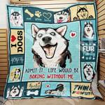 Siberian Husky Dog Blanket OCT3003 90O47