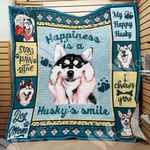 Siberian Husky Dog Blanket OCT1503 73O49