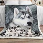 Siberian Husky Sherpa Blanket JR1601 78O58