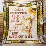Goat Sunflower Blanket NOV0402 73O49