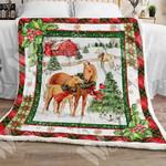 Horse Christmas Sherpa Blanket OCT1403 85O34