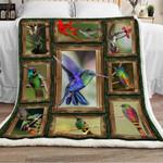 Hummingbird Sherpa Blanket DCB3001 90O35
