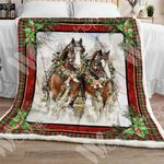 Horse Christmas Sherpa Blanket OCT1102 85O34