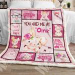 Pig Sherpa Blanket NOV1201 78O58