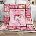 Pig Sherpa Blanket NOV0703 69O49