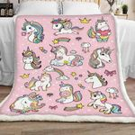 Unicorn Sherpa Blanket JR1501 77O53