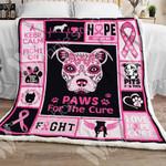 Breast Cancer Pitbull Dog Sherpa Blanket OCT1501 95O47