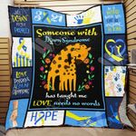 Down Syndrome Giraffe Blanket DCB2301 78O42