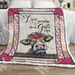 Farmer Cow Sherpa Blanket OCT0501 85O57